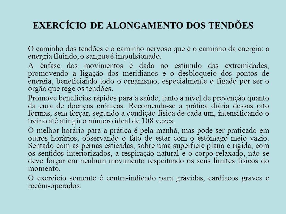 EXERCÍCIO DE ALONGAMENTO DOS TENDÕES