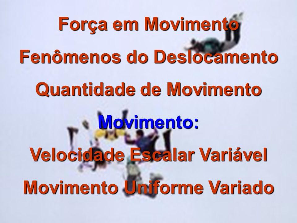 Fenômenos do Deslocamento Quantidade de Movimento Movimento: