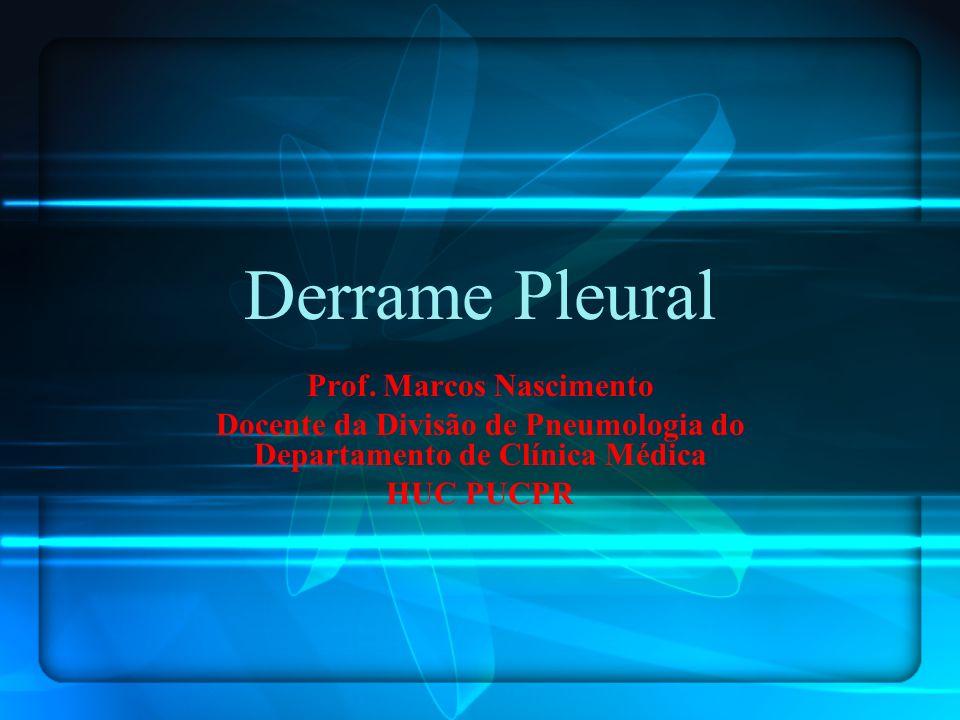 Derrame Pleural Prof. Marcos Nascimento