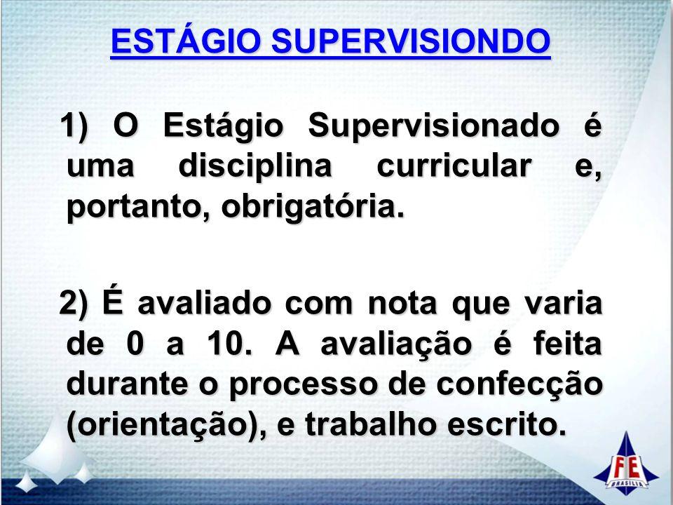 ESTÁGIO SUPERVISIONDO