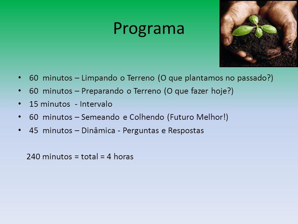 Programa 60 minutos – Limpando o Terreno (O que plantamos no passado )