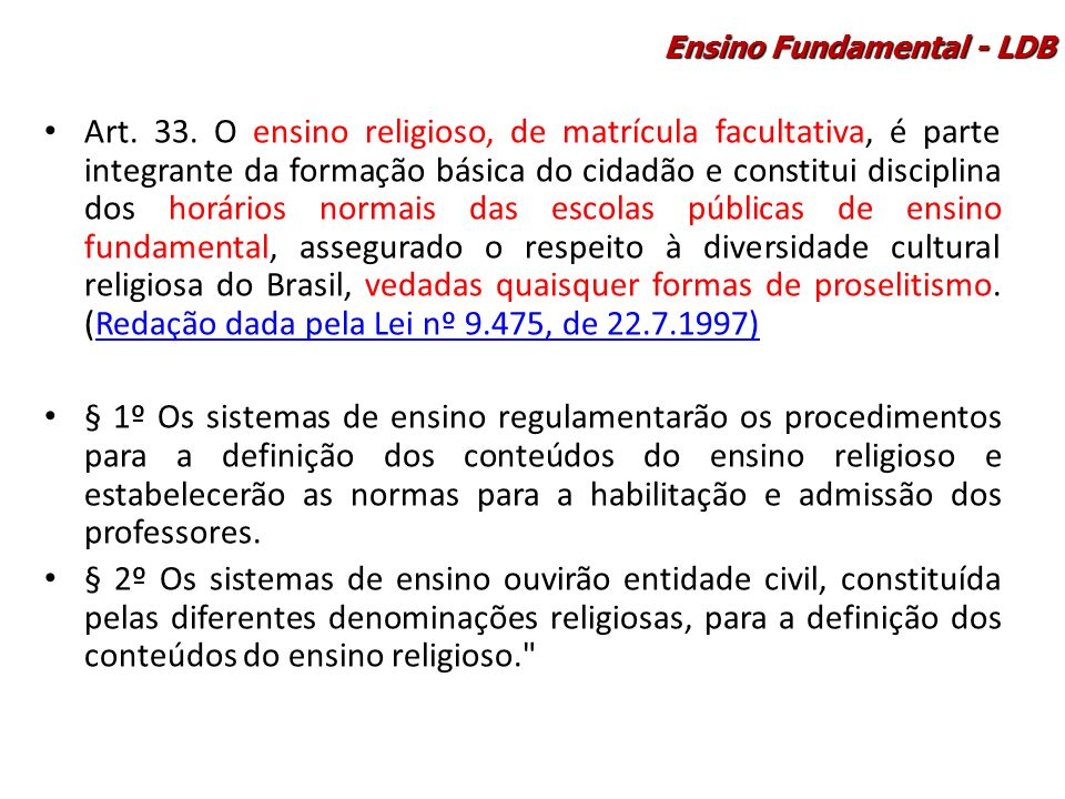 Ensino Fundamental - LDB