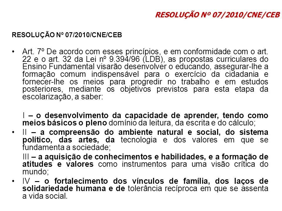RESOLUÇÃO Nº 07/2010/CNE/CEB