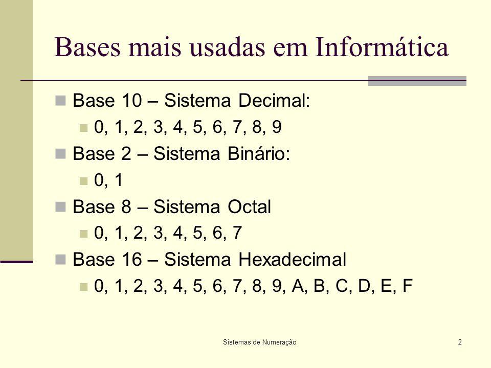 Ex. 1: sistema decimal – base 10