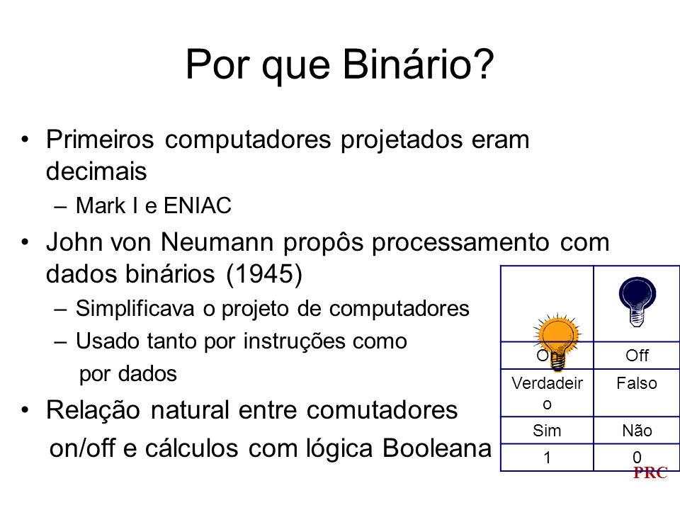 Por que Binário Primeiros computadores projetados eram decimais