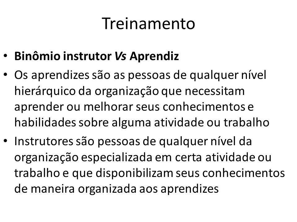 Treinamento Binômio instrutor Vs Aprendiz