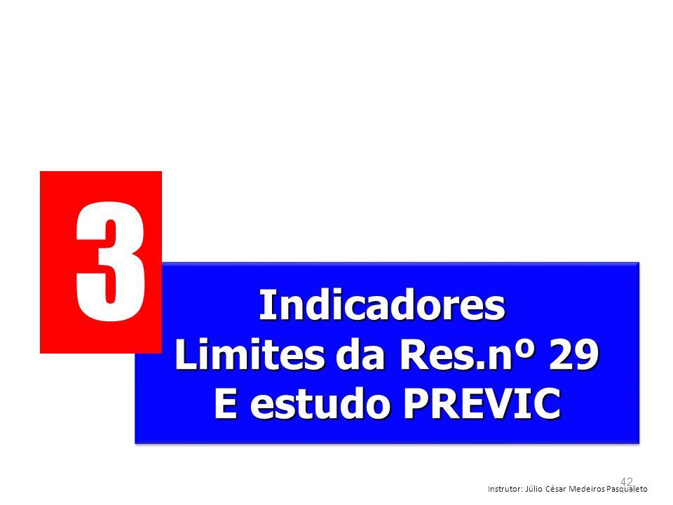 3 Indicadores Limites da Res.nº 29 E estudo PREVIC