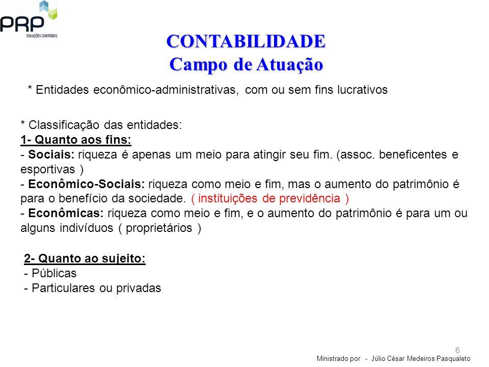 CONTABILIDADE Campo de Atuação
