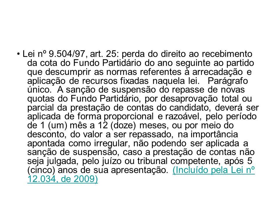 • Lei nº 9.504/97, art.