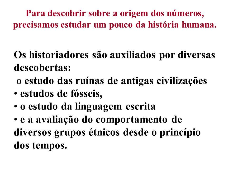 Os historiadores são auxiliados por diversas descobertas: