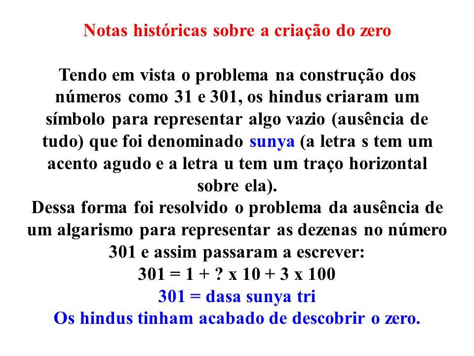 Notas históricas sobre a criação do zero