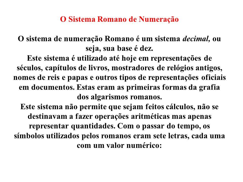 O Sistema Romano de Numeração