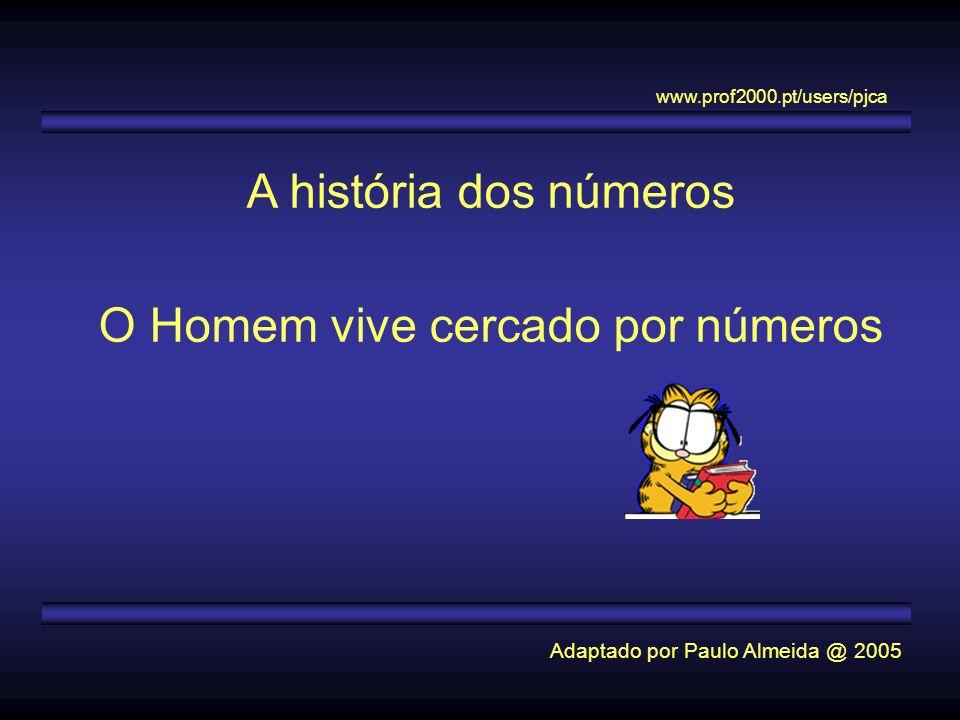 O Homem vive cercado por números
