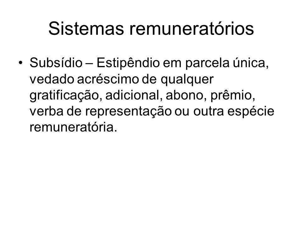 Sistemas remuneratórios