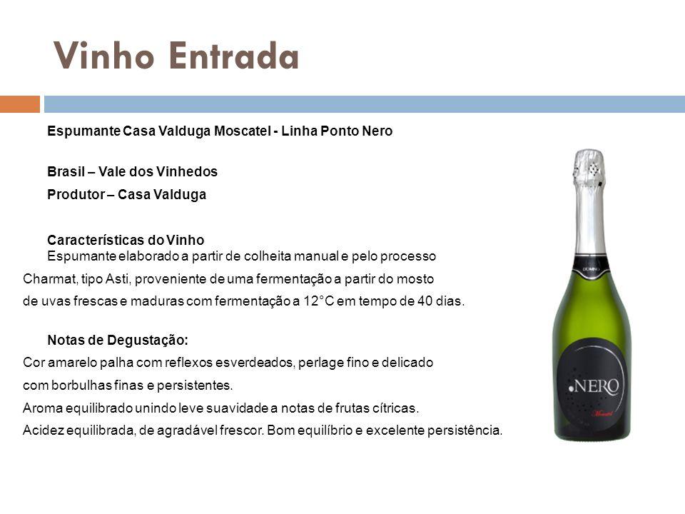 Vinho Entrada Espumante Casa Valduga Moscatel - Linha Ponto Nero