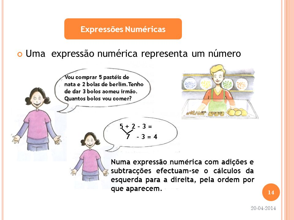Uma expressão numérica representa um número