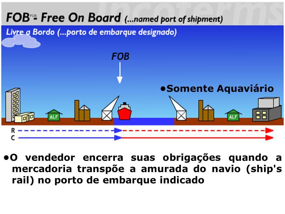 FOB •Somente Aquaviário.