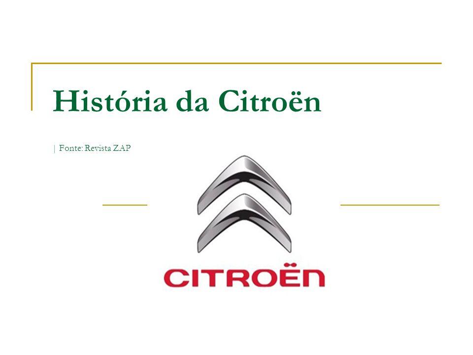 História da Citroën | Fonte: Revista ZAP