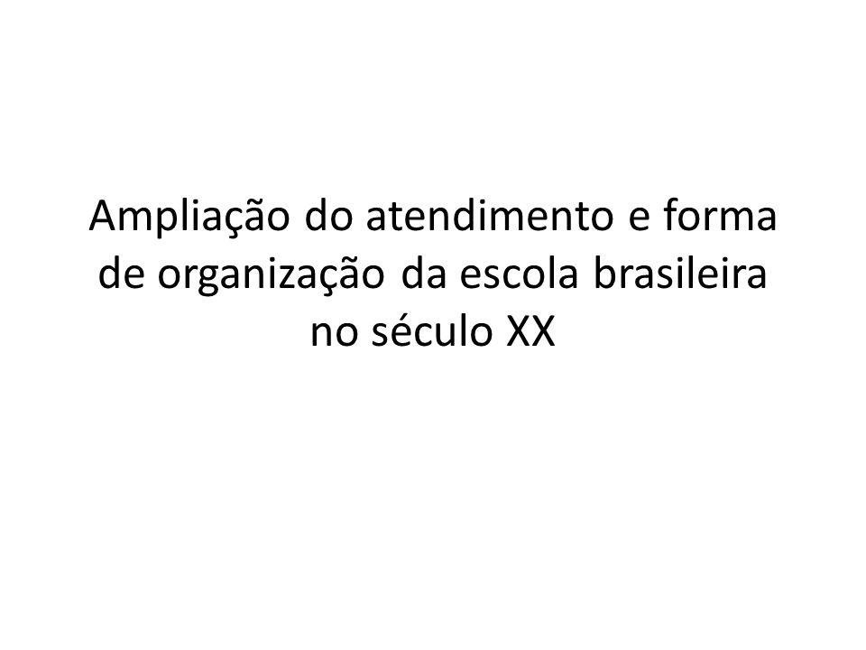 Ampliação do atendimento e forma de organização da escola brasileira no século XX