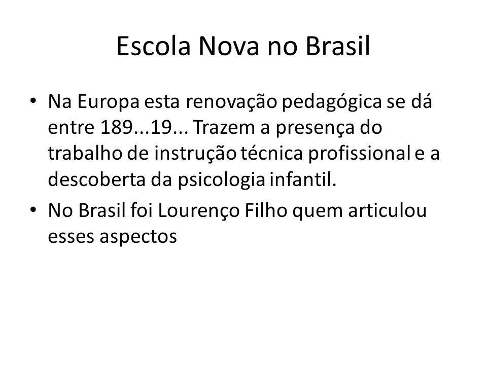 Escola Nova no Brasil