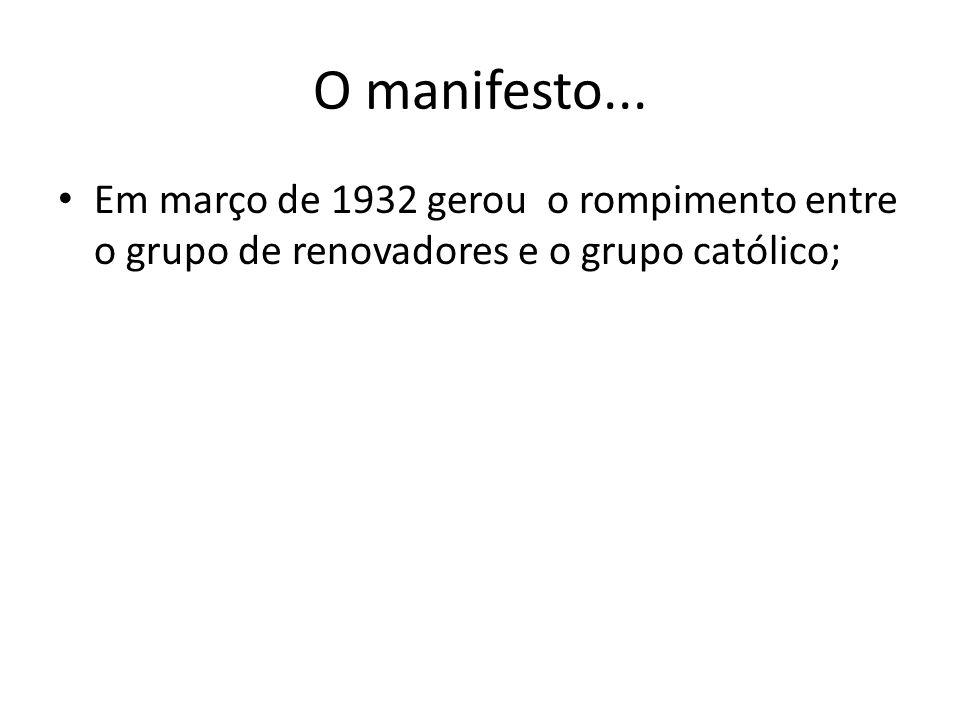 O manifesto...
