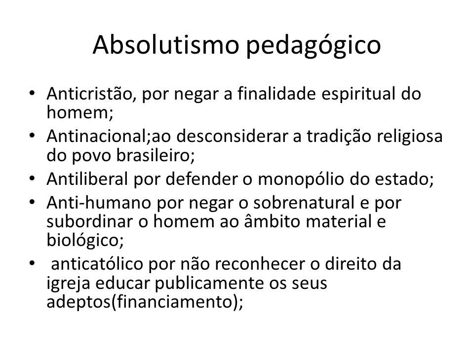Absolutismo pedagógico
