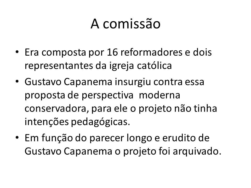 A comissão Era composta por 16 reformadores e dois representantes da igreja católica.