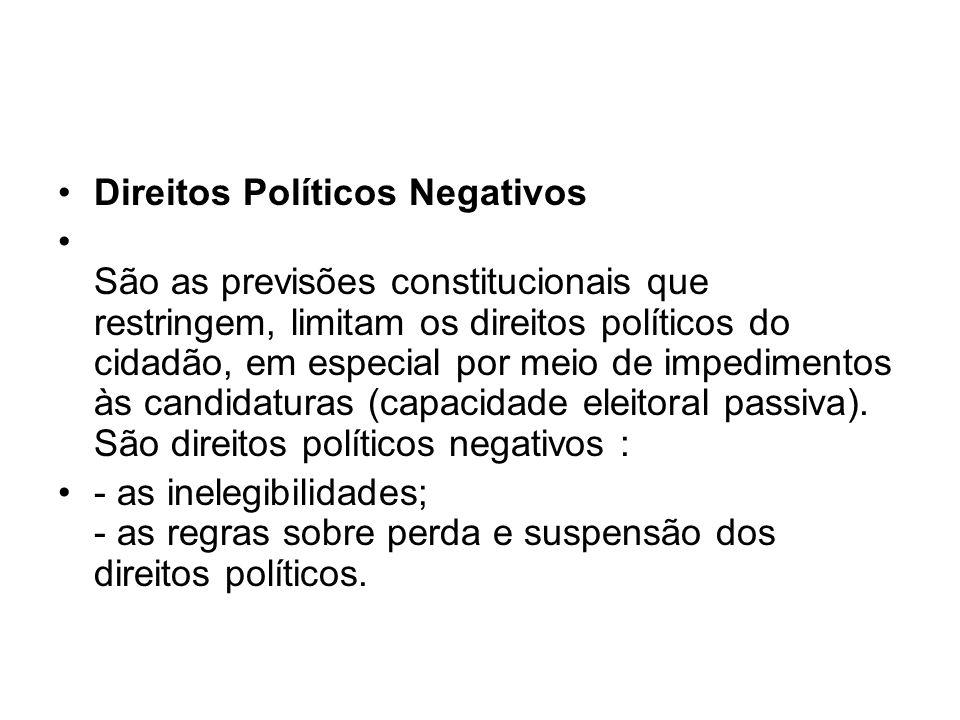Direitos Políticos Negativos
