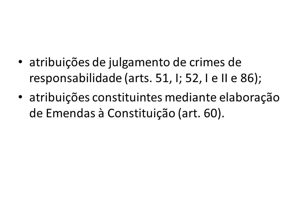 atribuições de julgamento de crimes de responsabilidade (arts