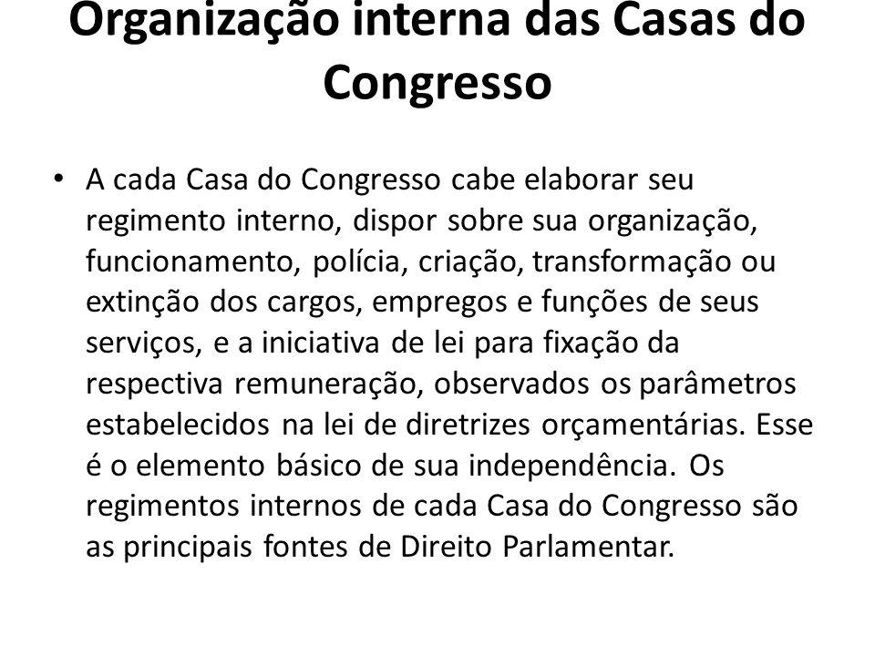 Organização interna das Casas do Congresso