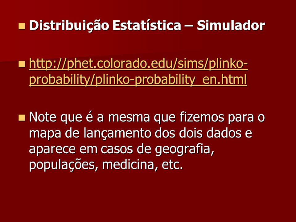 Distribuição Estatística – Simulador
