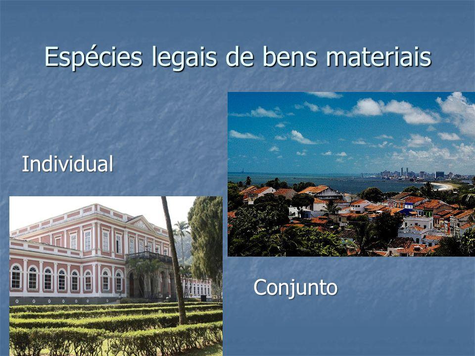Espécies legais de bens materiais
