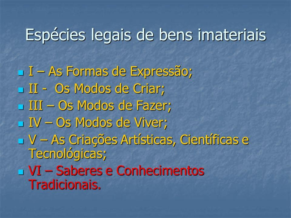 Espécies legais de bens imateriais
