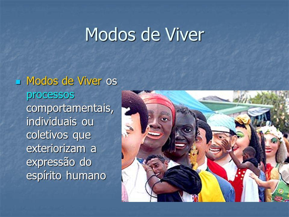 Modos de ViverModos de Viver os processos comportamentais, individuais ou coletivos que exteriorizam a expressão do espírito humano.