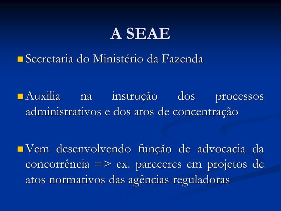 A SEAE Secretaria do Ministério da Fazenda