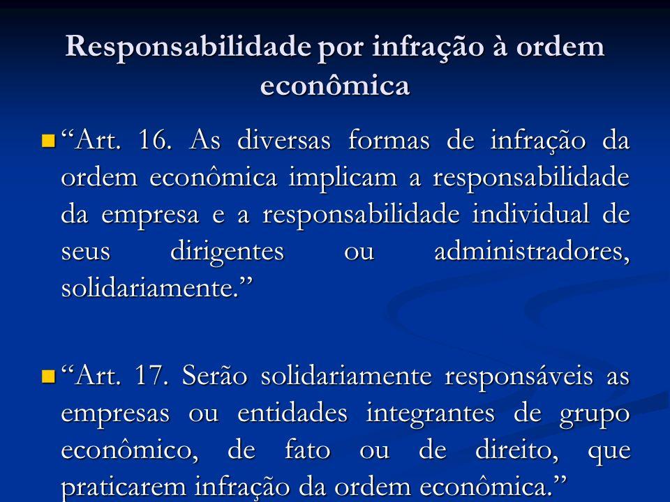 Responsabilidade por infração à ordem econômica