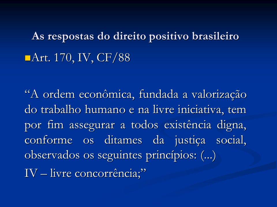 As respostas do direito positivo brasileiro
