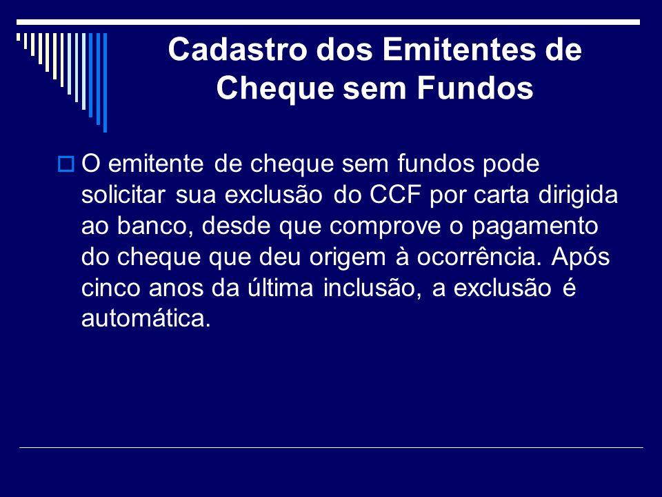 Cadastro dos Emitentes de Cheque sem Fundos
