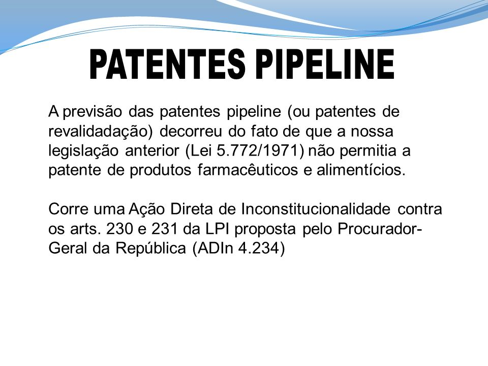 PATENTES PIPELINE