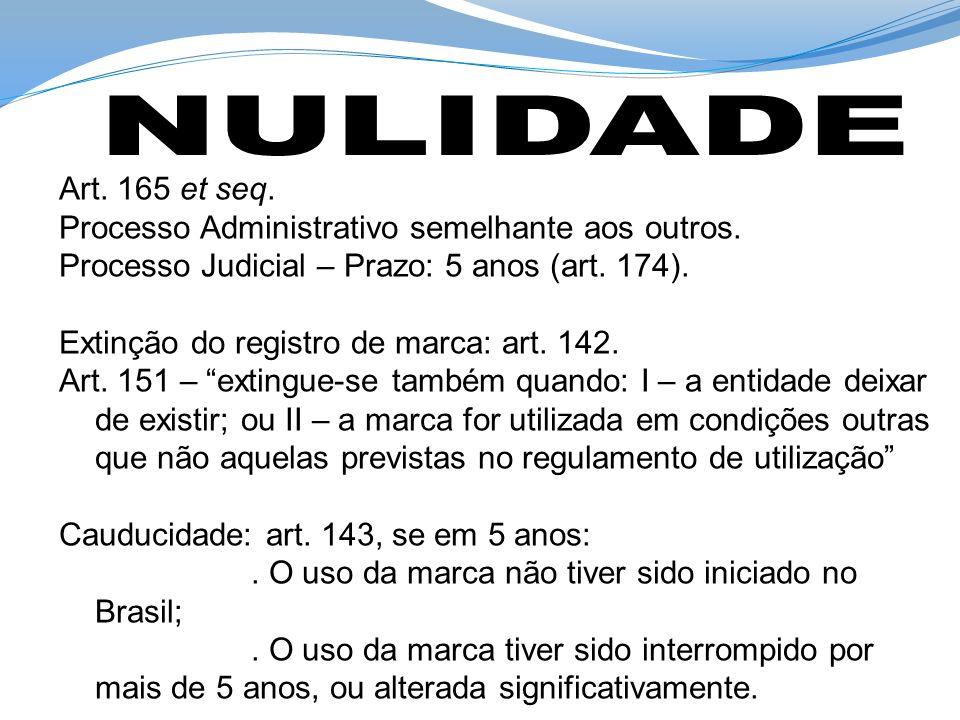 NULIDADE Art. 165 et seq. Processo Administrativo semelhante aos outros. Processo Judicial – Prazo: 5 anos (art. 174).