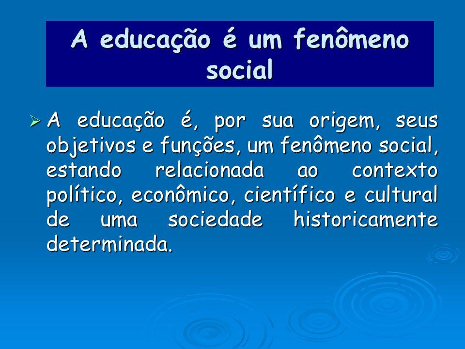 A educação é um fenômeno social