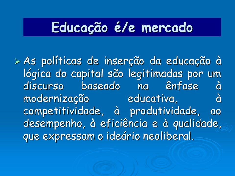 Educação é/e mercado