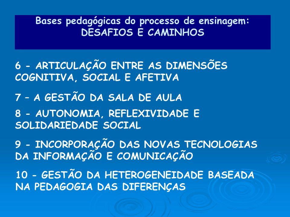 Bases pedagógicas do processo de ensinagem: DESAFIOS E CAMINHOS