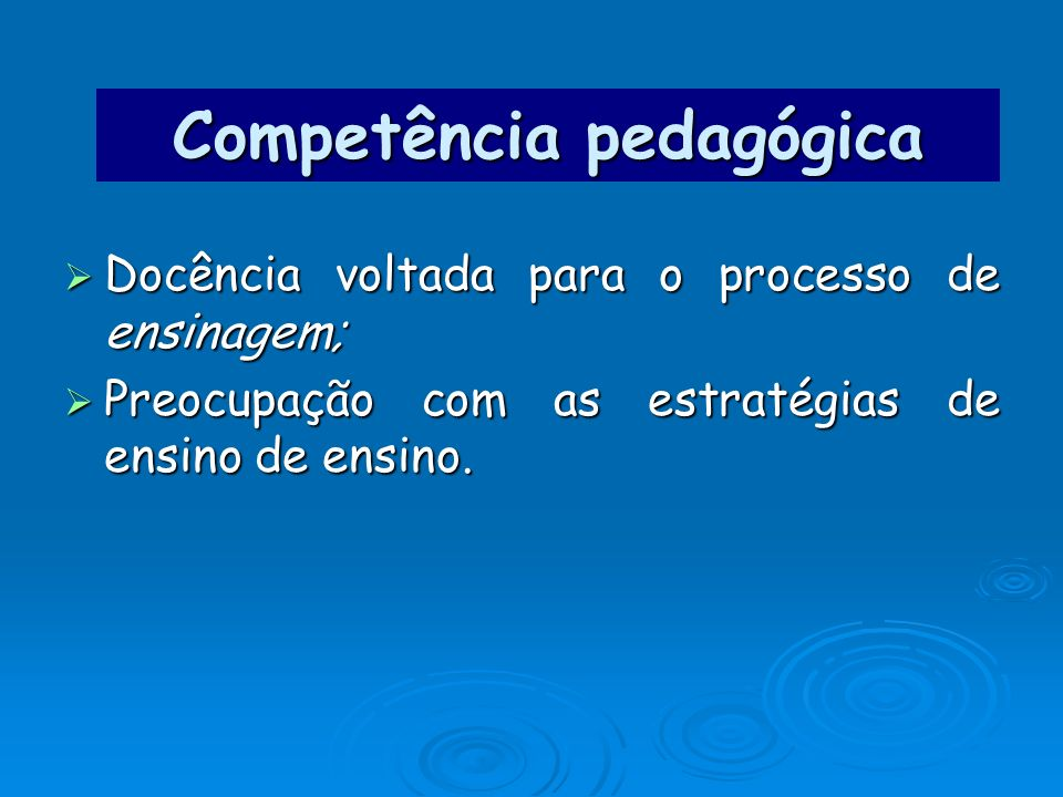 Competência pedagógica