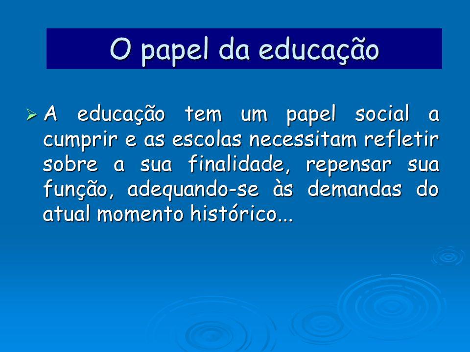 O papel da educação