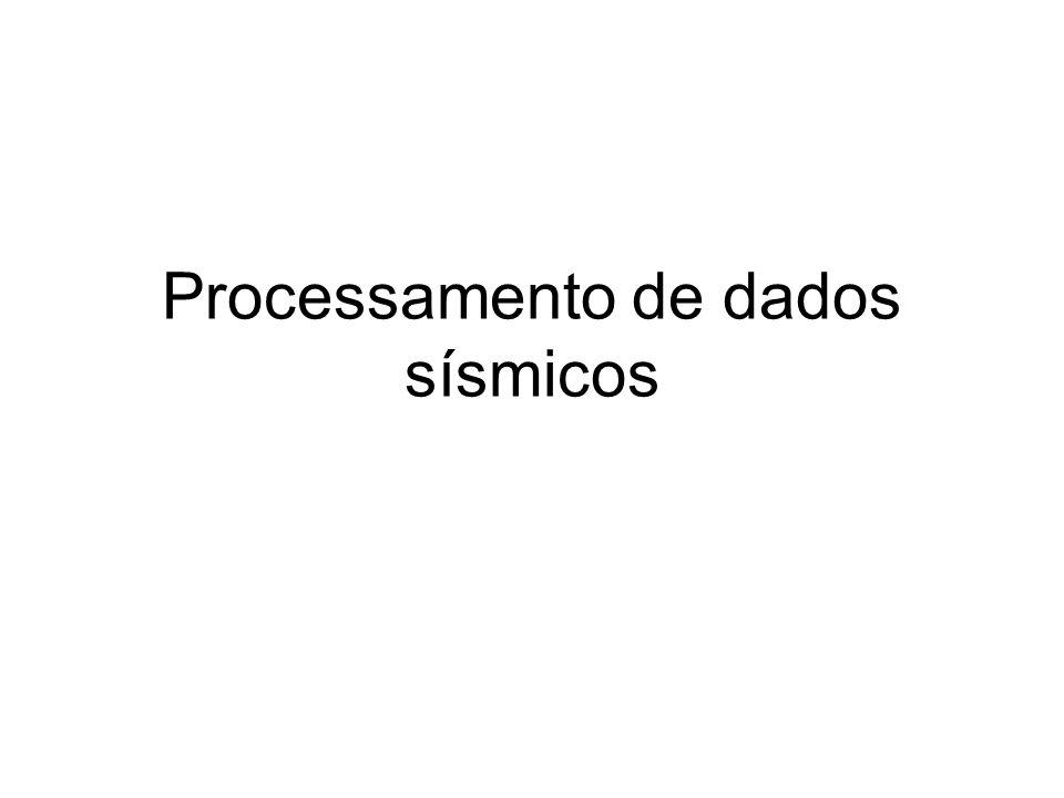 Processamento de dados sísmicos