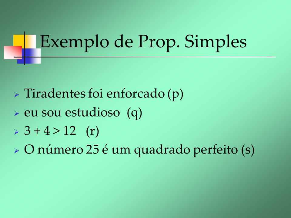 Exemplo de Prop. Simples