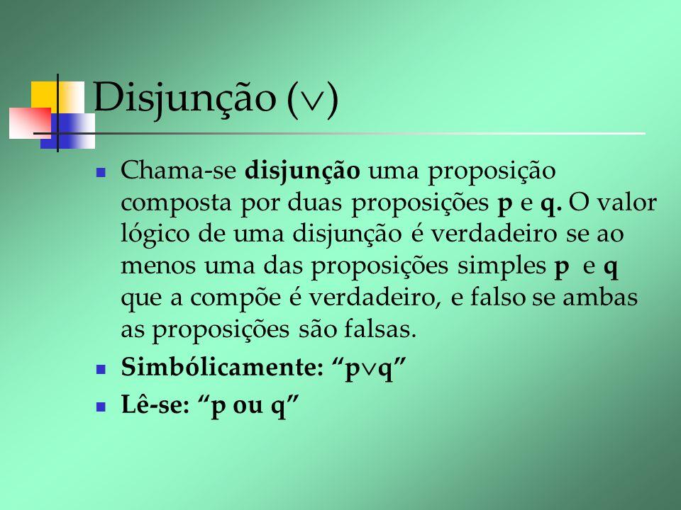 Disjunção ()