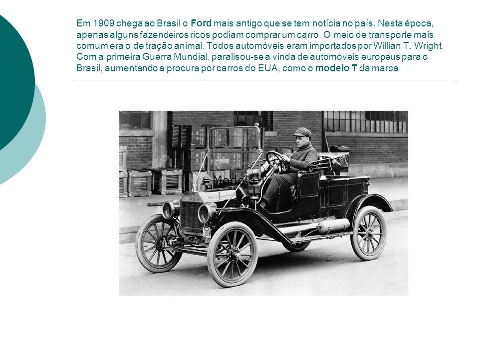 Em 1909 chega ao Brasil o Ford mais antigo que se tem notícia no país