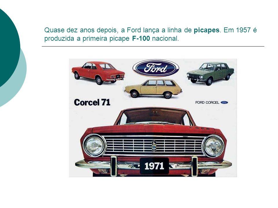 Quase dez anos depois, a Ford lança a linha de picapes